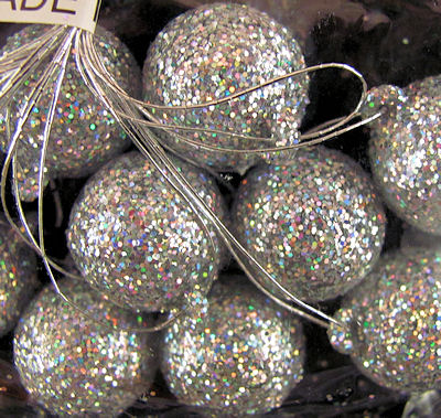 Miniature Glittered Ball Ornaments