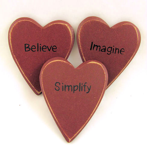 Simplify Imagine Believe Hearts