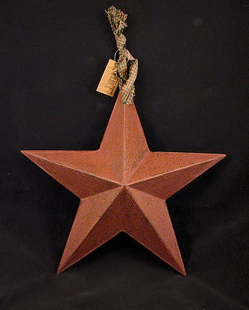 Burgundy Resin Barn Star