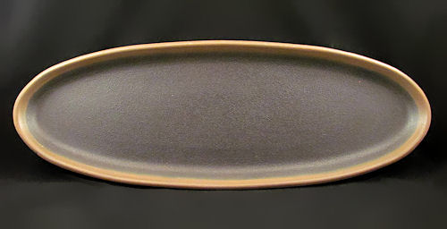 Long Black Oval Tray