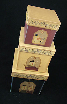 Stacking Nesting Boxes Snowman Tags