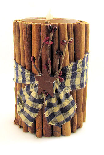 Cinnamon Stick LED Pillar Candle